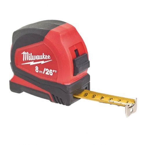 Milwaukee 4932459596 Pro Compact Tape Measure 8m/26ft (Width 25mm)